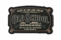 Шеврон на липучке Old School Vestern PVC, черный