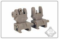 Комплект прицельных приспособлений FMA Front and back sight GEN3, Desert
